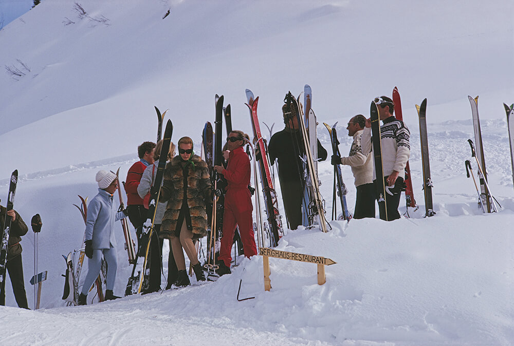 Skiers At Gstaad fine art photography