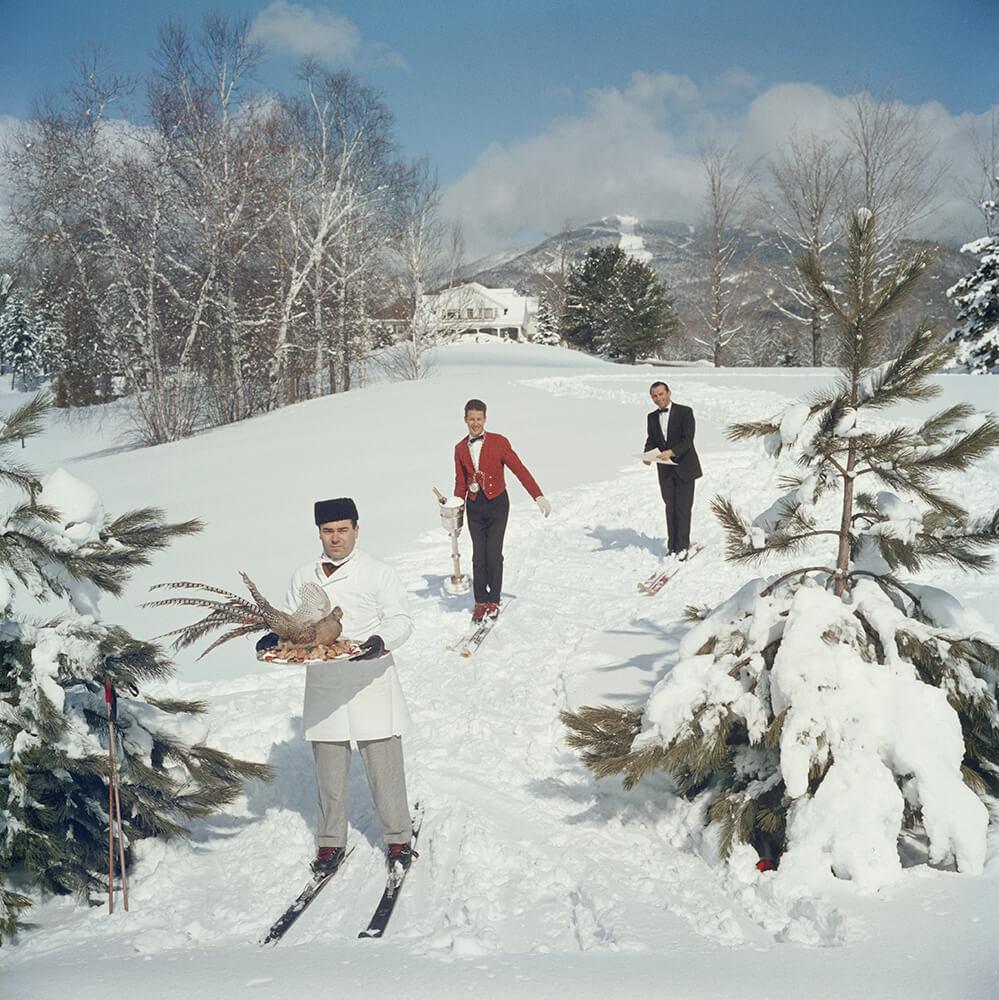 Skiing Waiters fine art photography