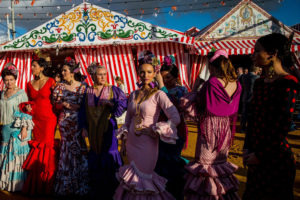 Women of the Feria de Abril