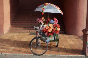 Flowers on Rickshaw