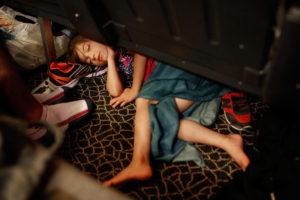 Girl Asleep on a Ferry