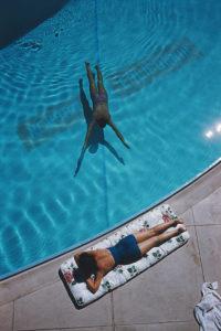 Swimmer And Sunbather