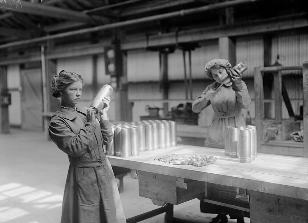 Women Workers At Munitions Factory fine art photography