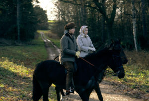 Queen And Anne Riding At Sandringham