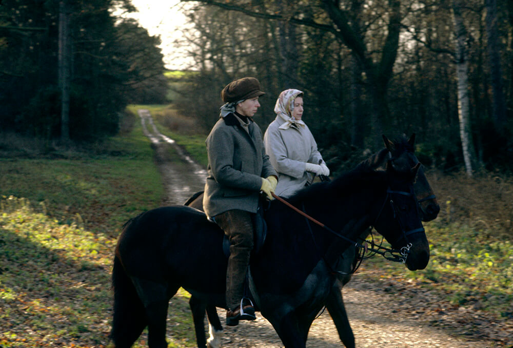 Queen And Anne Riding At Sandringham fine art photography