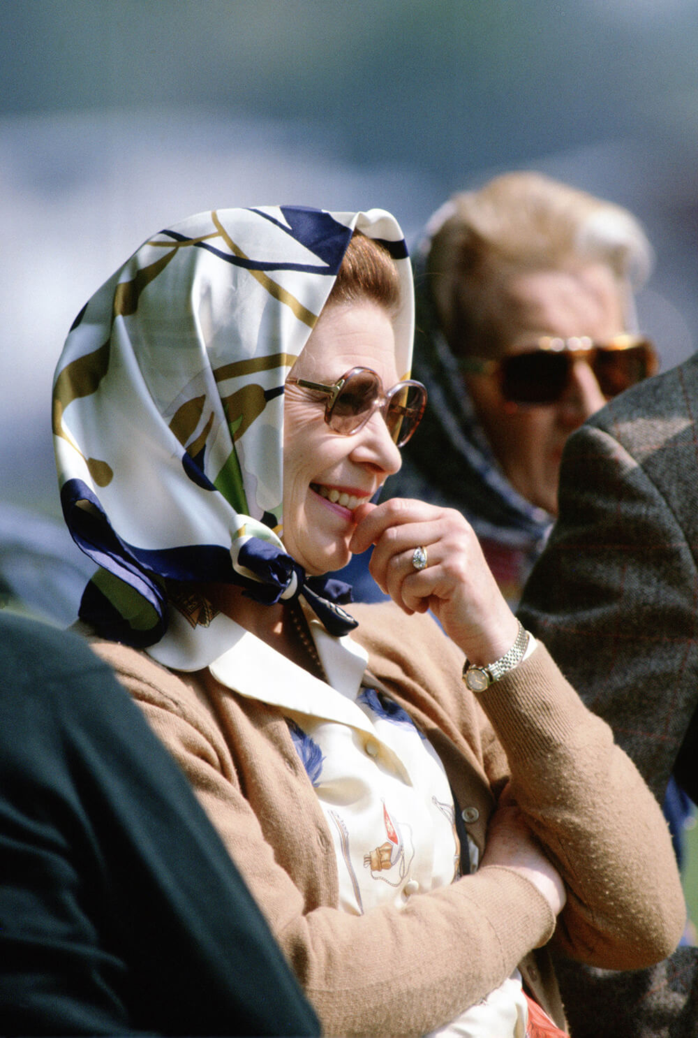 Queen Elizabeth II at the Royal Windsor Horse Show watching fine art photography