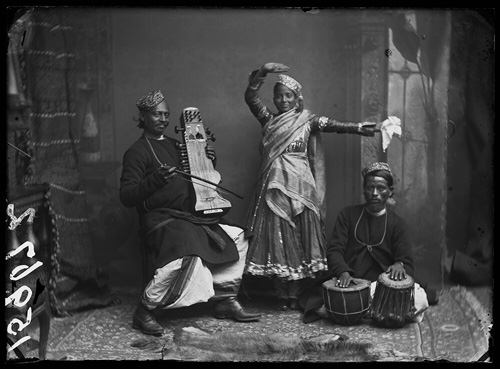 Nautch Dancer And Musicians fine art photography