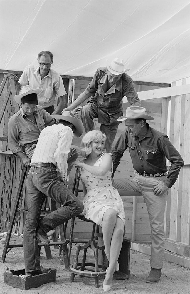 Marilyn With The Cast And Crew Of The Misfits fine art photography