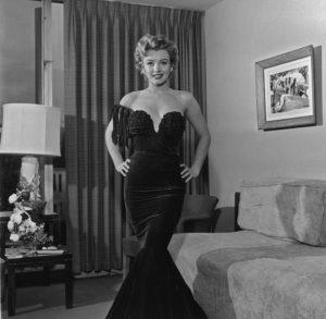 Marilyn Monroe In An Evening Dress