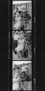 Marilyn And Cast Pose On The Set of 'The Misfits'
