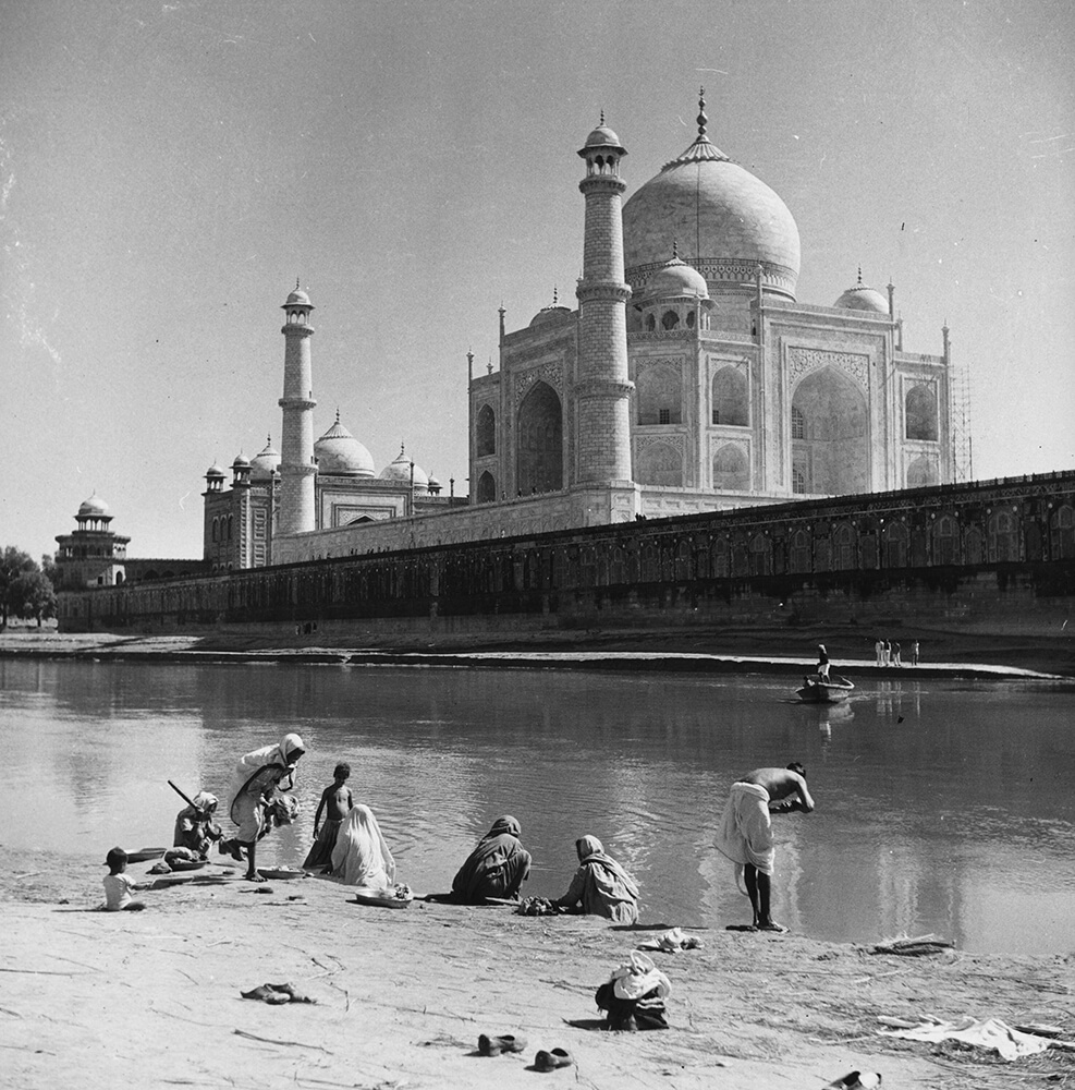 Bathing At Agra fine art photography