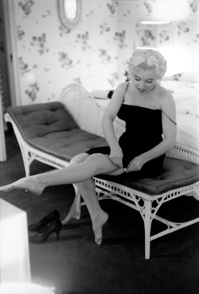 Marilyn Adjusts Her Stockings fine art photography