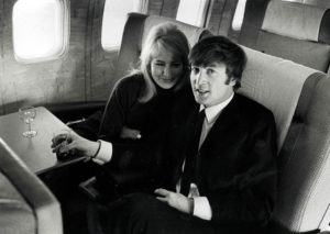 Volume 2, Page 84, Picture 6. The Beatles, February 1964. John Lennon with his wife Cynthia, flying to New York.