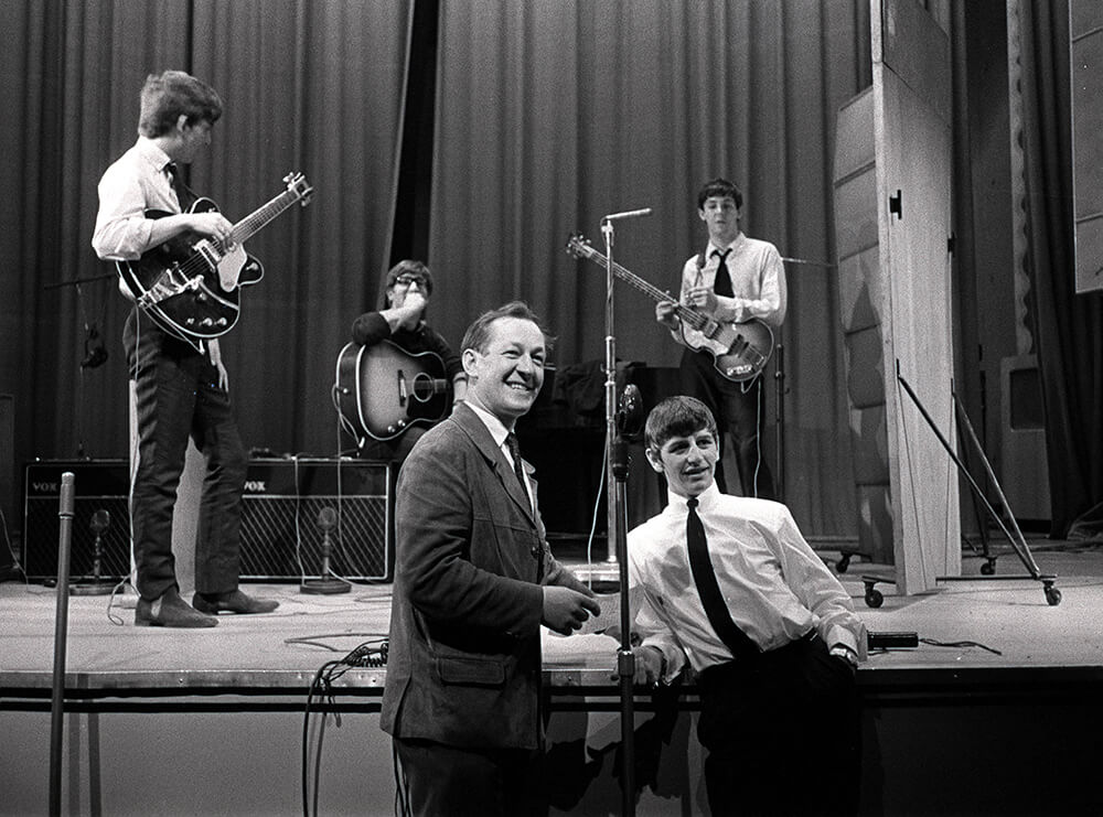 The Beatles pop group, during rehearsals in 1963. fine art photography