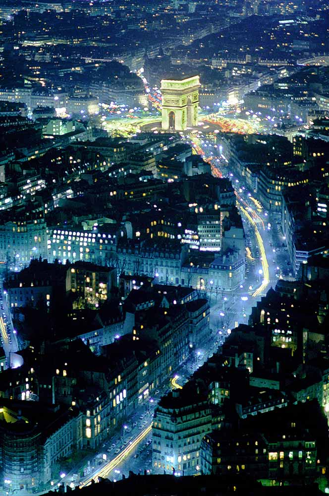 ARIAL VIEW OF ARC DE TRIOMPHE, PARIS from Aerials fine art photography