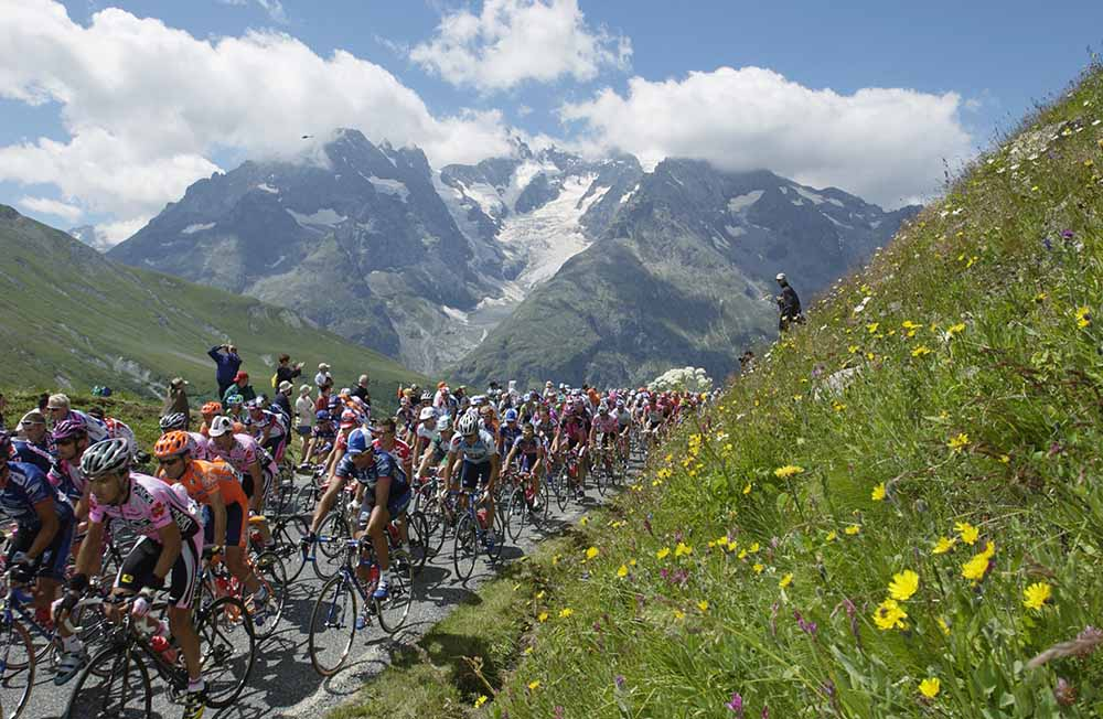 The peloton climbs Col du Galibier fine art photography