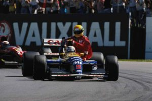 Nigel Mansell and Ayrton Senna