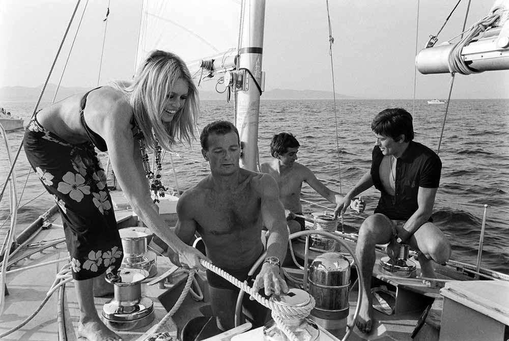 Alain Delon And Brigitte Bardot In Saint Tropez, France In August, 1968. fine art photography