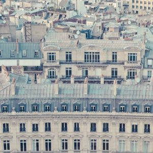 View over rooftops of Paris