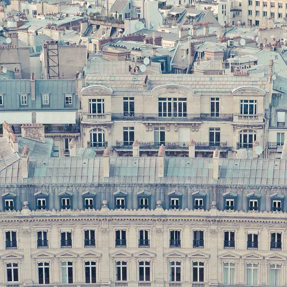 View over rooftops of Paris fine art photography