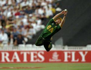Jonty Rhodes of South Africa