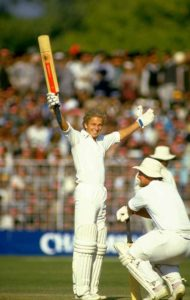 David Gower and Mike Gatting of England