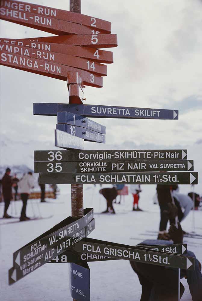 Signpost In St. Moritz fine art photography