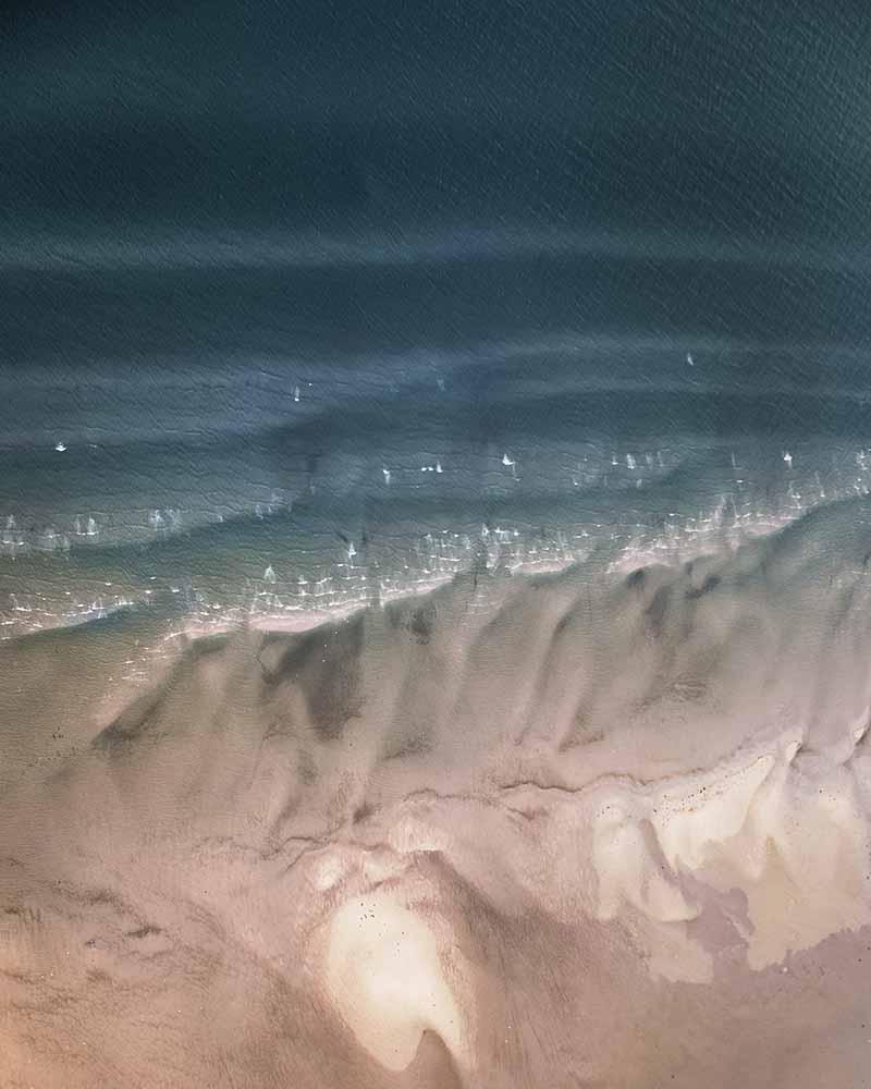 Aerial view of beach and sea, Ruegen Island fine art photography
