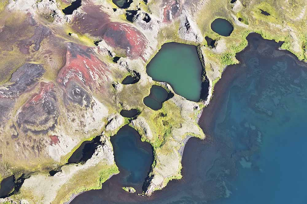 Iceland aerial view fine art photography