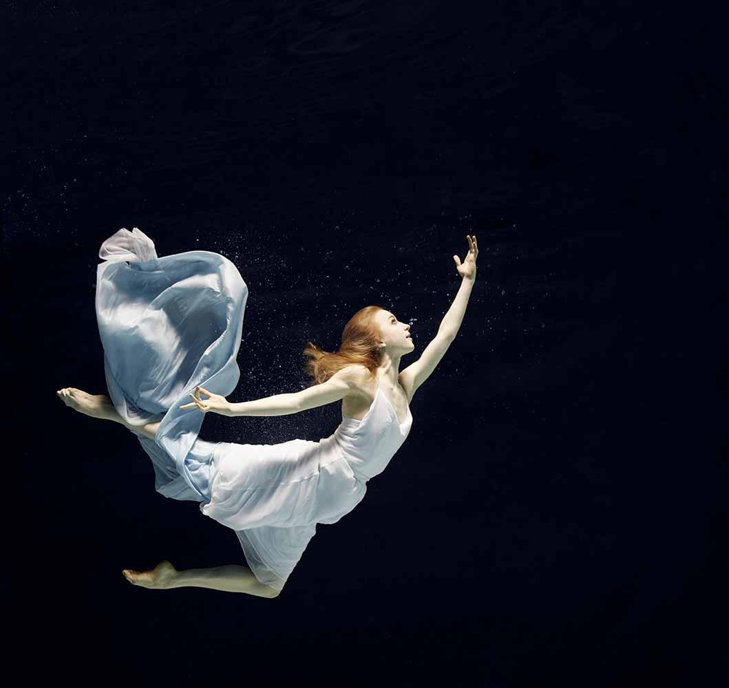 ballet dancer underwater fine art photography