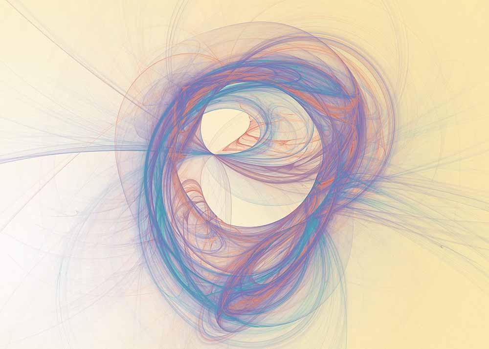 Soft swirling pastel fractal fine art photography