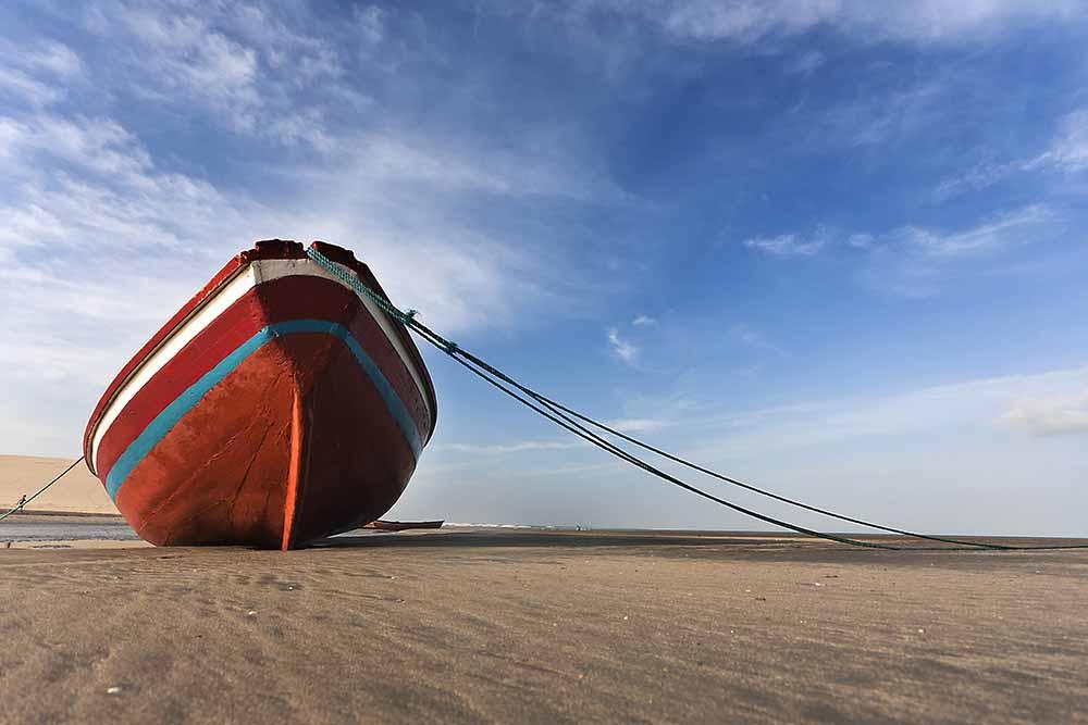 Boat on beach fine art photography