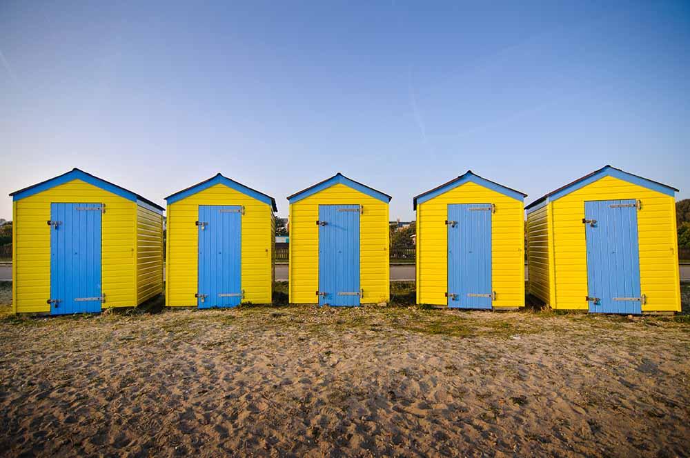 Beach huts fine art photography