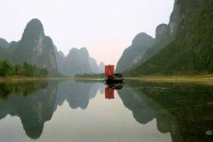 Fishing boat on Li River
