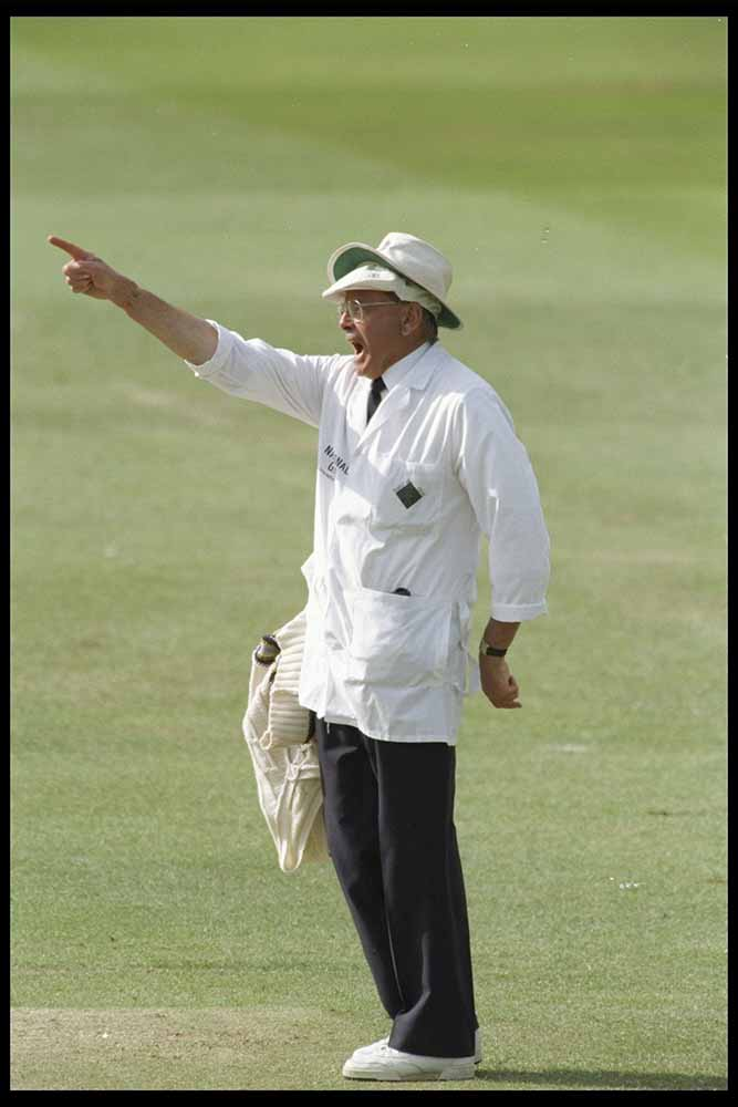 Umpire Dickie Bird gives his last decision fine art photography