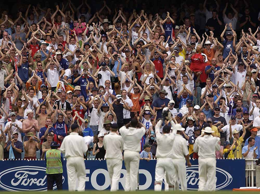 The Barmy Army salute the England team fine art photography