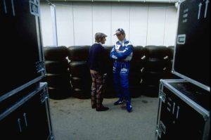 Jackie Stewart and Damon Hill