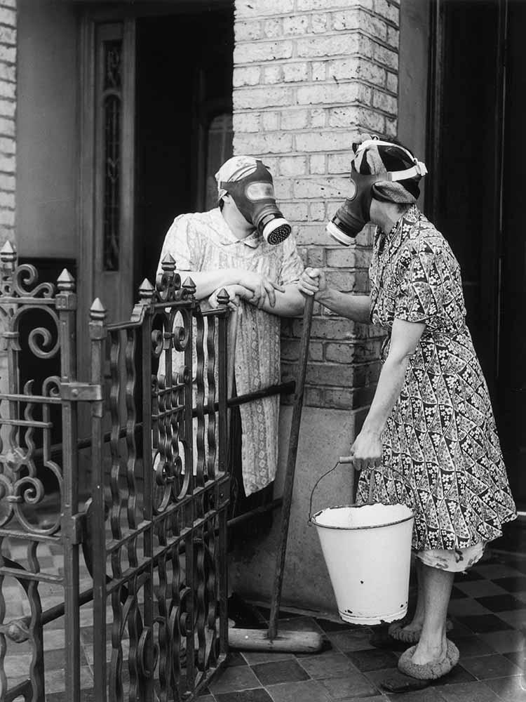Gas Mask Gossip fine art photography