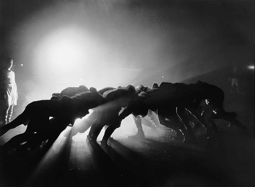 Floodlit Rugby fine art photography
