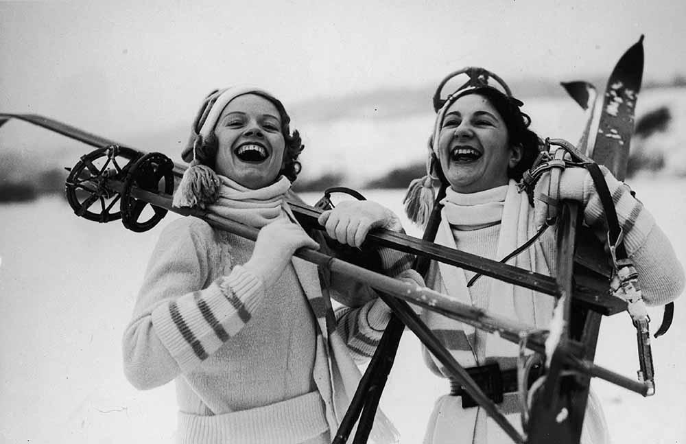 Happy Skiers fine art photography
