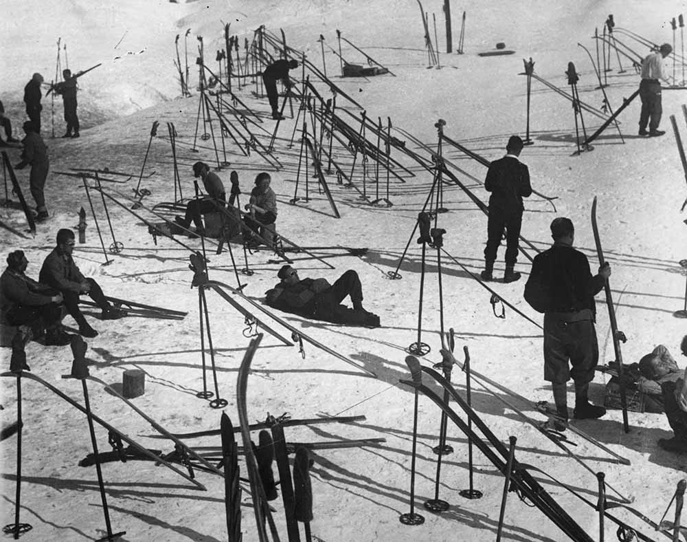 Skiers Relax fine art photography