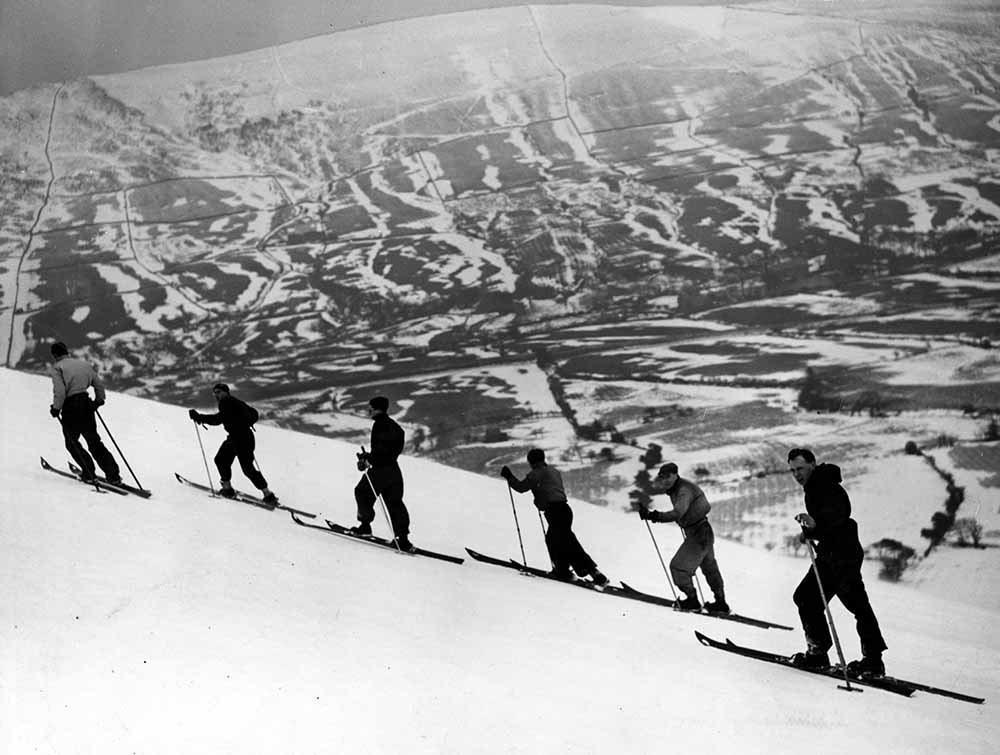 Skiing in England fine art photography