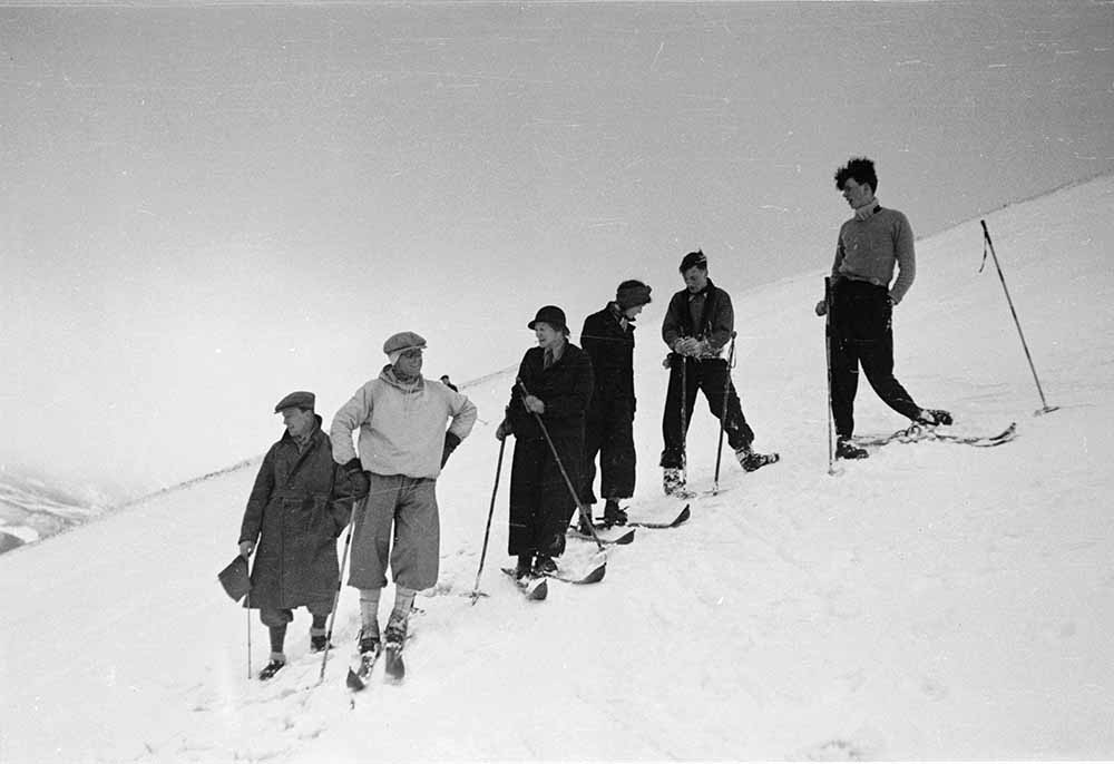 Skiing Party fine art photography