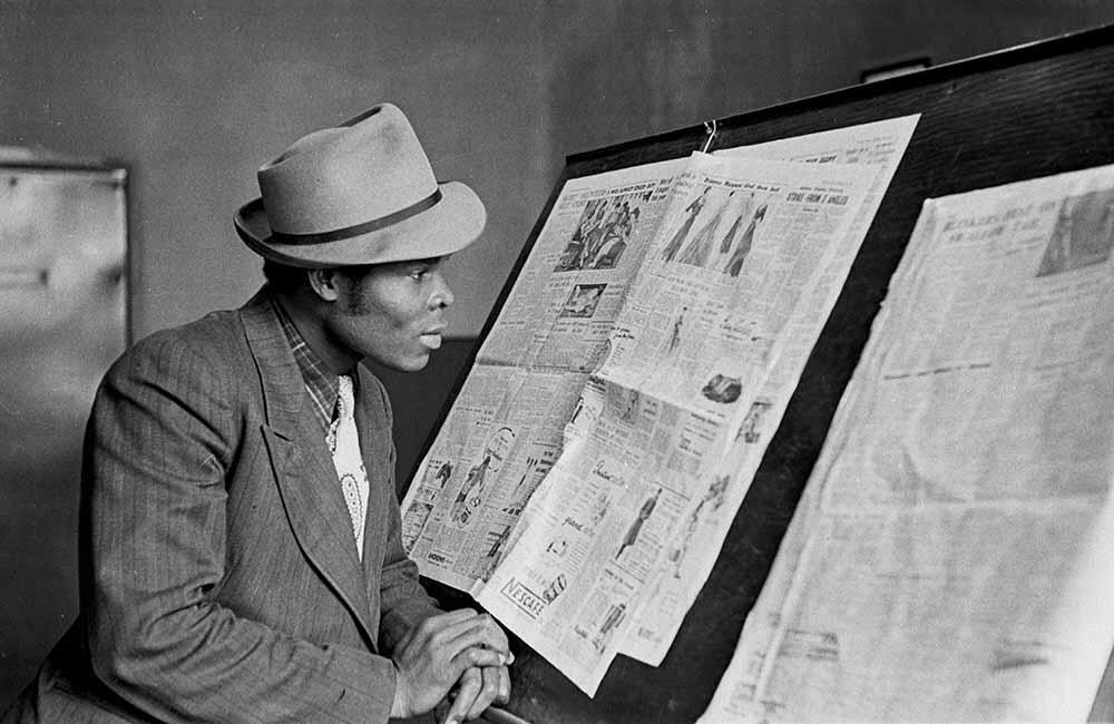 Newspaper Reader fine art photography