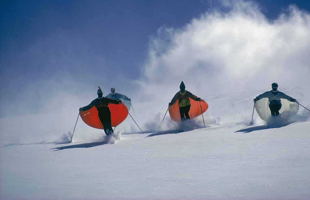 Caped Skiers fine art photography