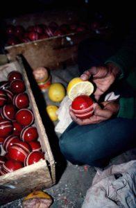 Polishing Cricket Balls