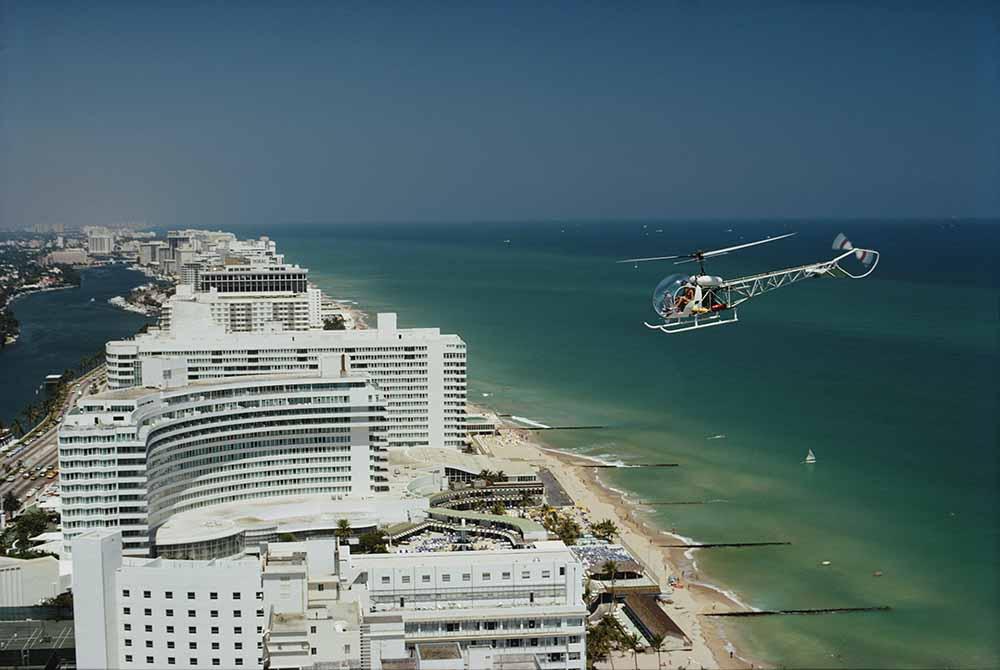 Aerial Miami Beach fine art photography