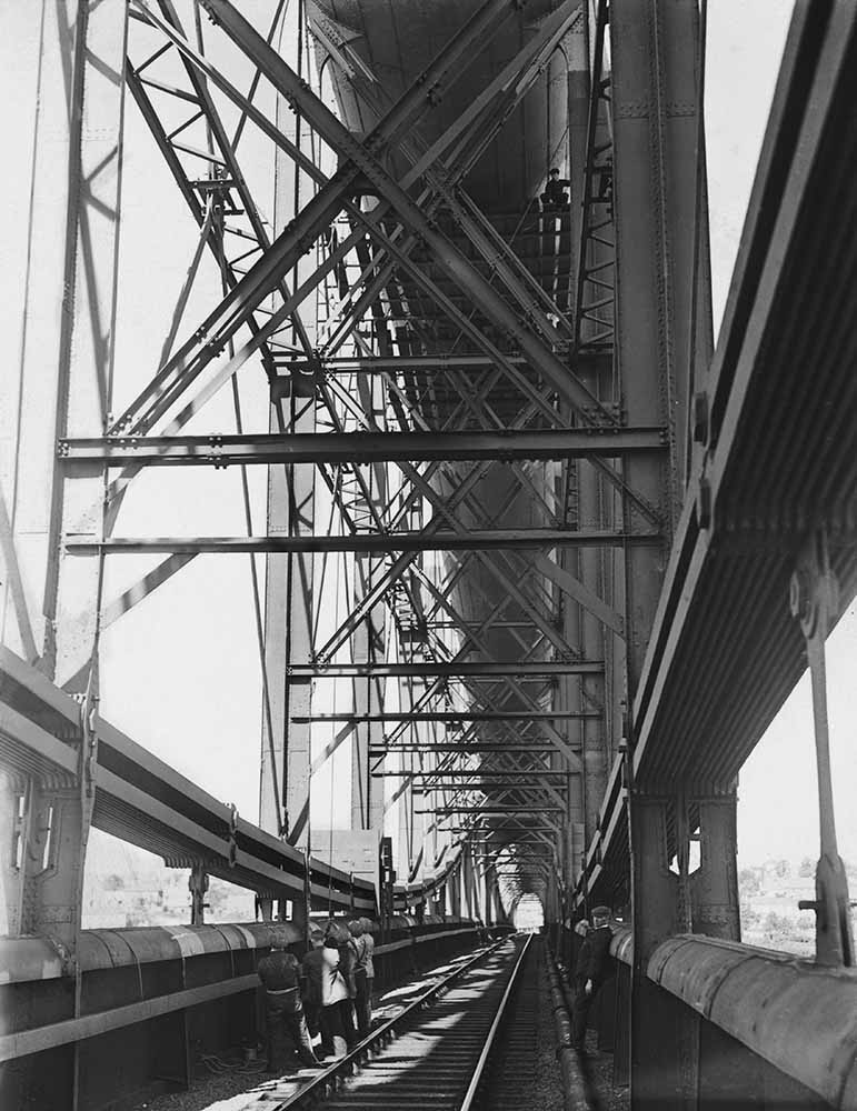 Cleaning Saltash Bridge fine art photography