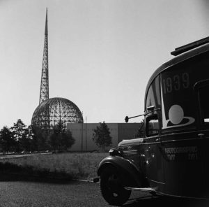 The Trylon and Perisphere Under Construction
