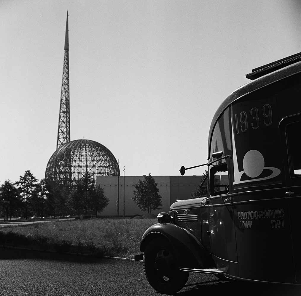 The Trylon and Perisphere Under Construction fine art photography